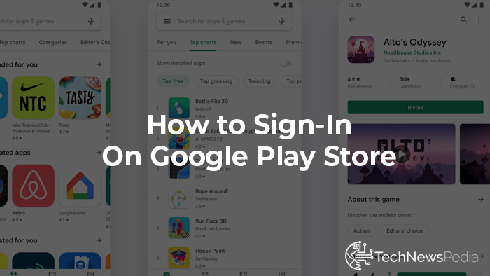signin google play store