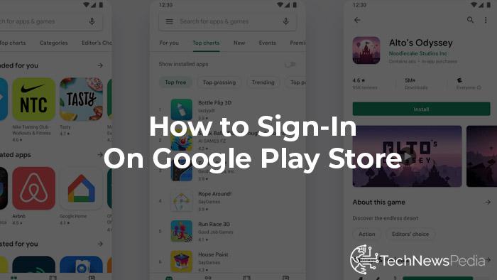 Como fazer login na Google Play…