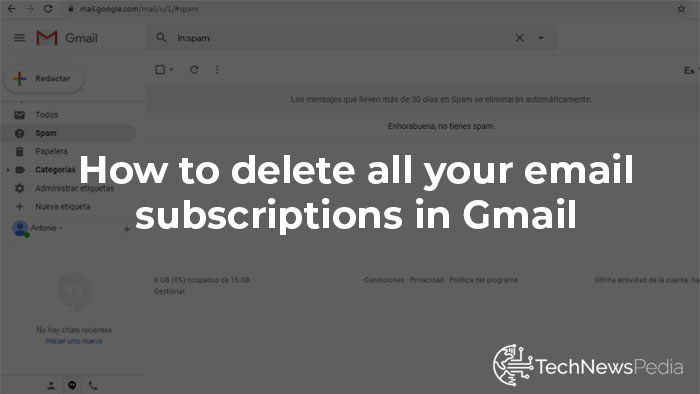 Delete Gmail Subscriptions