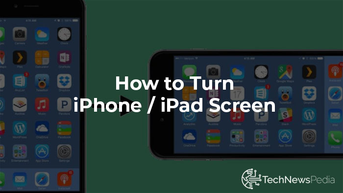 how to turn iphone screen