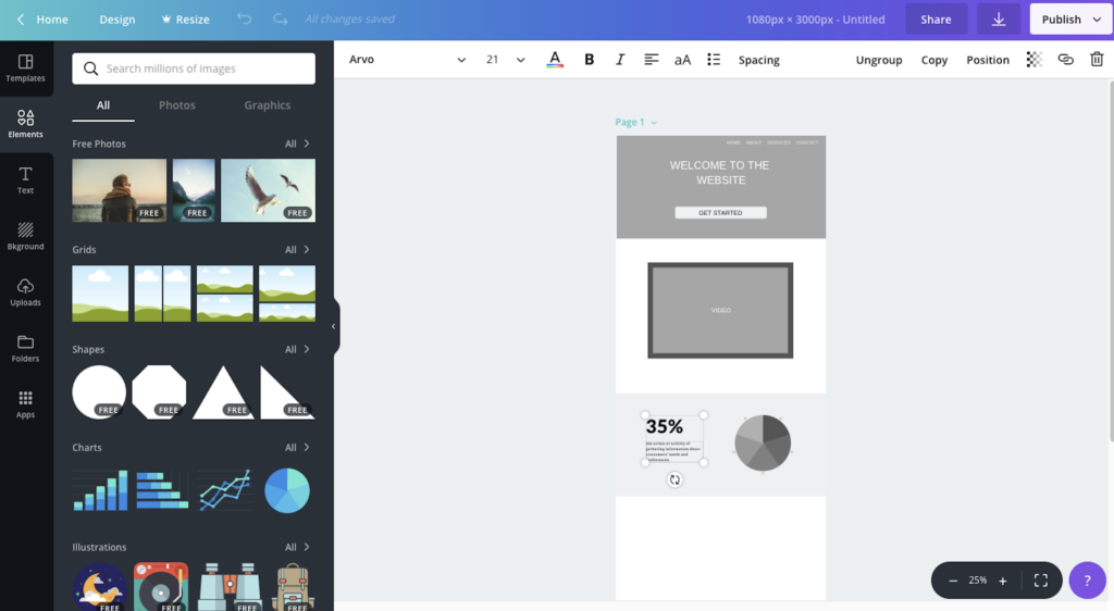 canva wireframe tool