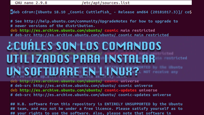 What are the commands used to install software on Linux?