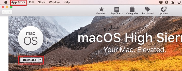 Download install MacOs Hight Sierra for free