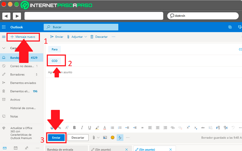 In Microsoft Outlook (Hotmail)