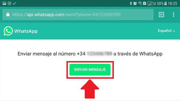 Through the WhatsApp API