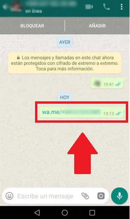 Extra tip: Now it is possible to send a WhatsApp message to ourselves