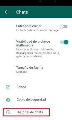 select chat history