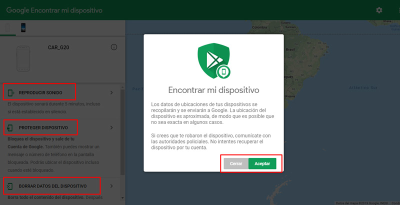 Steps to find my device with Android Device Manager
