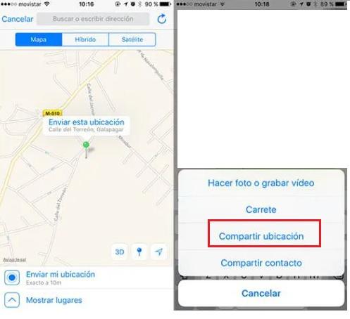 send fake location on whatsapp IOS