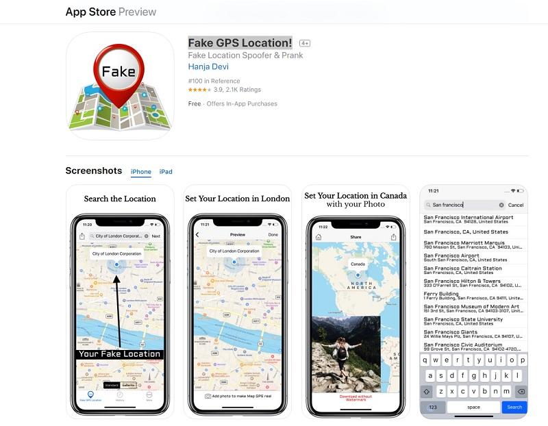 Fake GPS location!  IOs