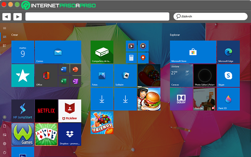See the Windows 8 Start screen on W10