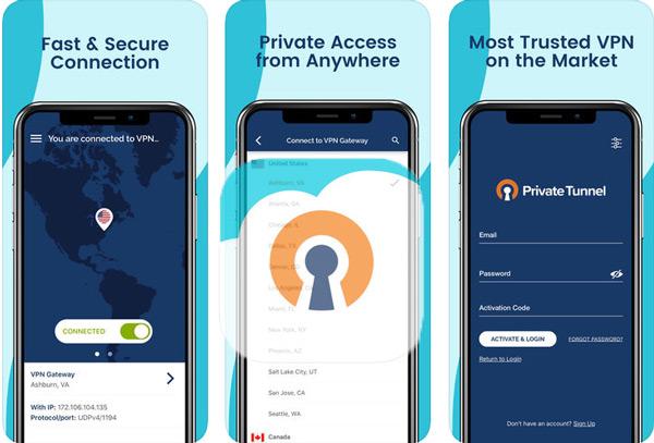 Private VPN tunnel
