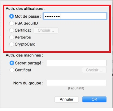 enter VPN password