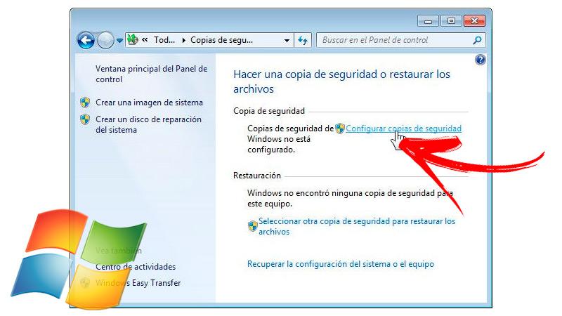 Set up Windows 7 backup