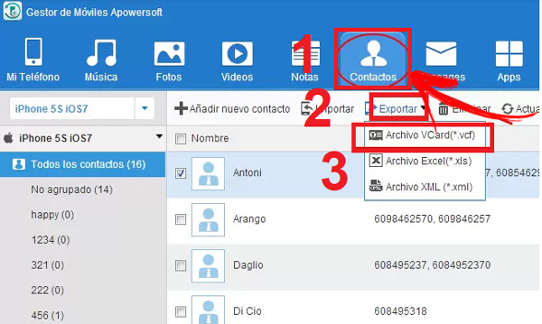 Import contacts from Gmail