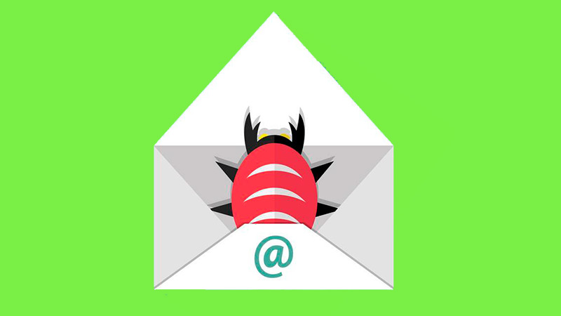 What are the most common malware and malicious programs in emails?