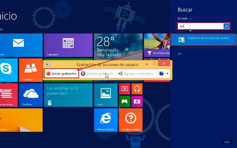Learn step by step how to record Windows 8 screen 01
