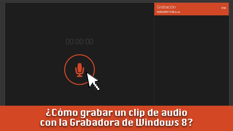 Learn step by step how to record an audio clip with Windows 8 Recorder