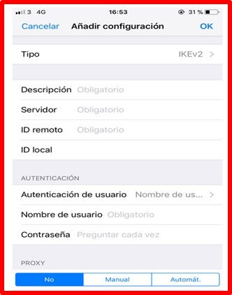 iPhone provider information