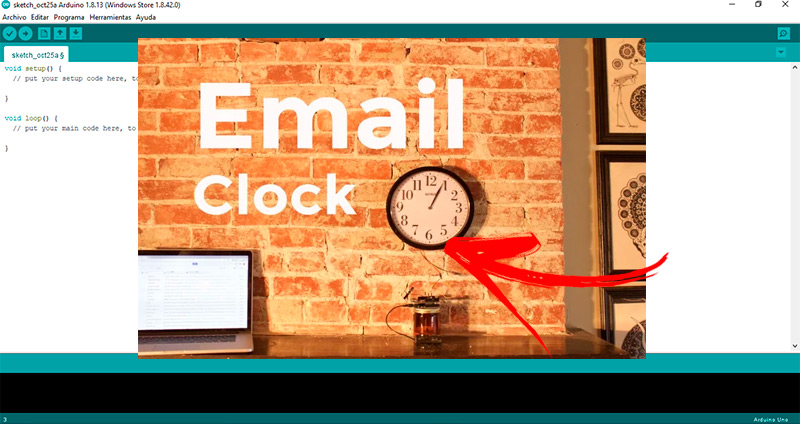 Checking Clock for new emails