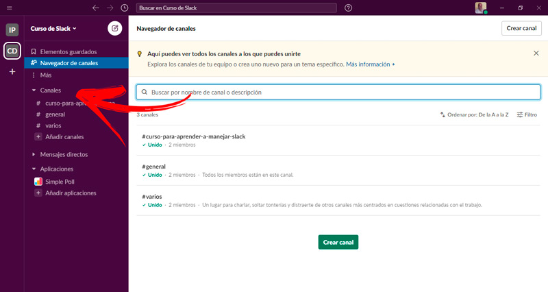 What are the benefits of using channels when teaming with Slack?