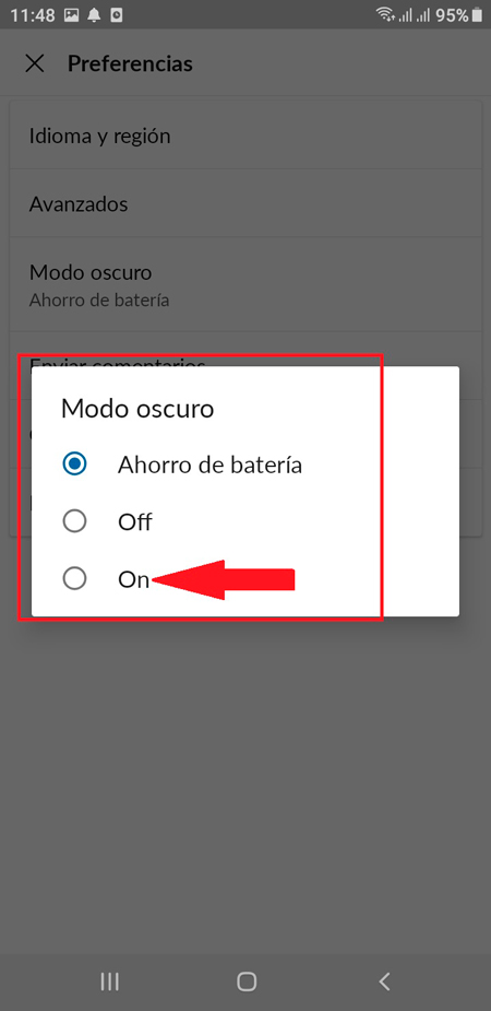 On your Android mobile