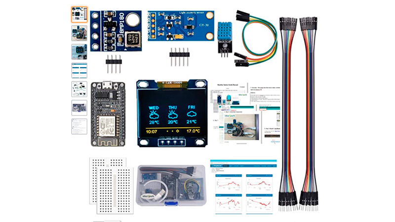 Weather station kit with BMP180