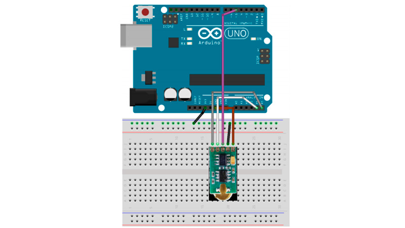 Connect the I2c bus