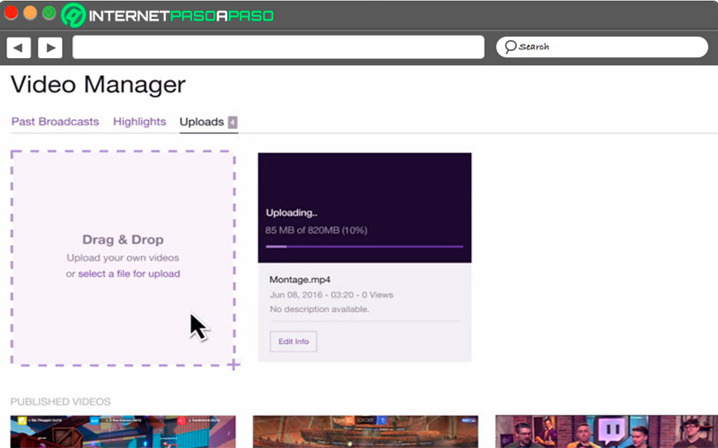 Learn step by step how to upload videos to Twitch to grow your channel
