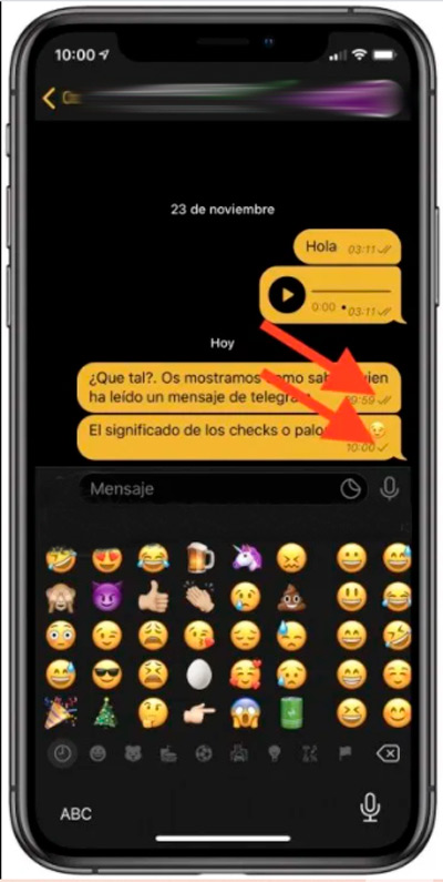 Learn step by step how to know who has read your message in a Telegram conversation