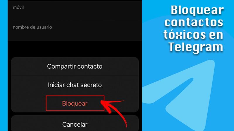Block toxic contacts on Telegram