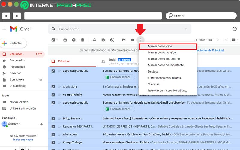 In the desktop browser