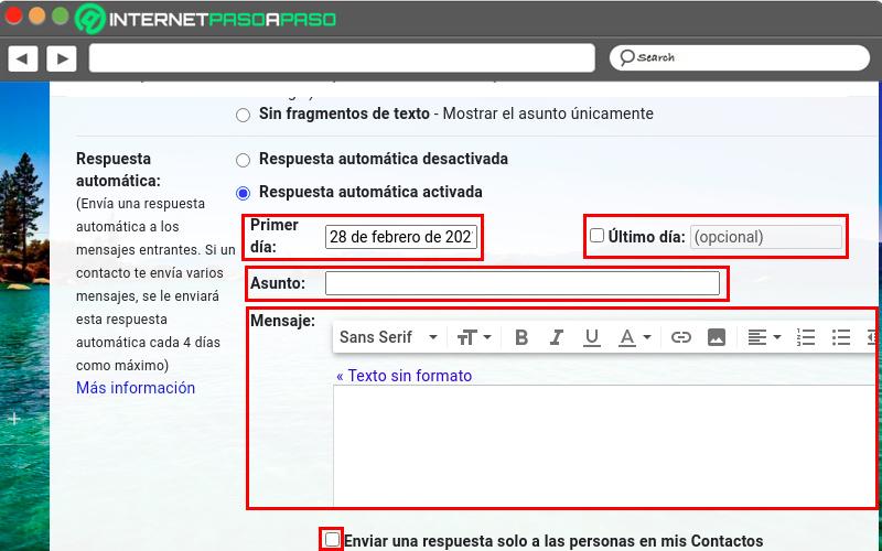 Configure automatic response