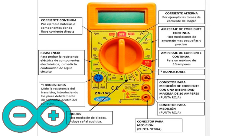 Learn step by step how to use a multimeter to test the circuits of your projects
