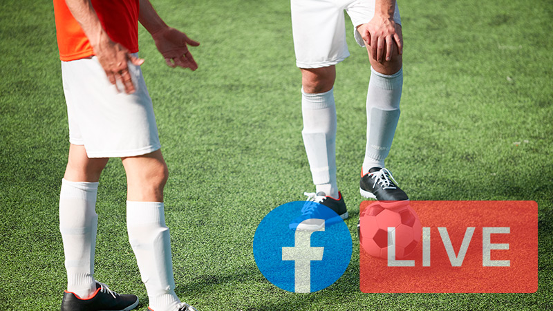 Meet the best pages to watch football from the main leagues in the world on Facebook Live Free