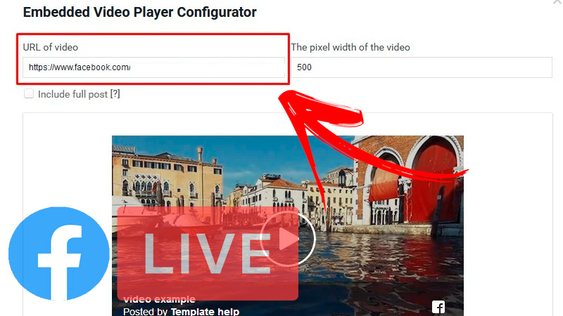 Get the code with the integrated video player