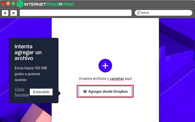 Add from Dropbox