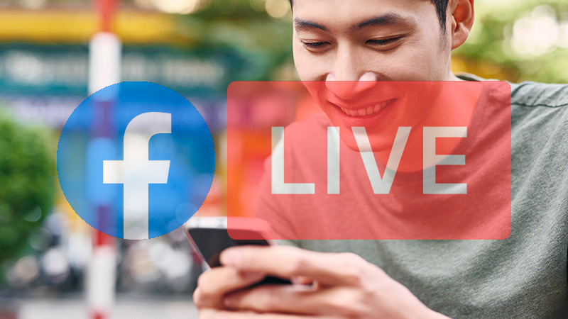 What is the data consumption of Facebook Live when using it on mobile?