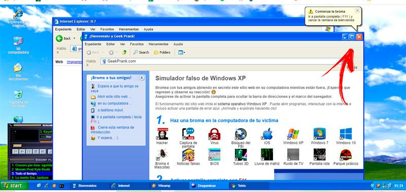 Modify the interface to Windows 7
