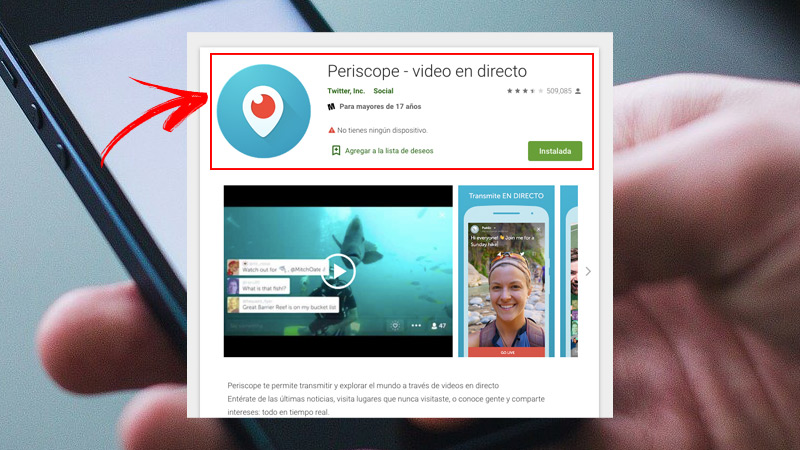 Go live with Periscope
