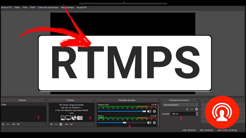 RTMPS video and audio transmission protocol