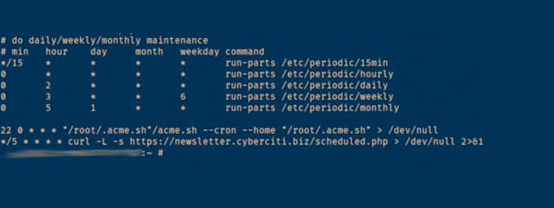What kinds of tasks can be scheduled using the Crontab commands in Linux?