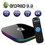 Android TV Box 9.0, Android Box 4GB RAM 32GB ROM H6 Quad Core Cortex-A53 Smart ...