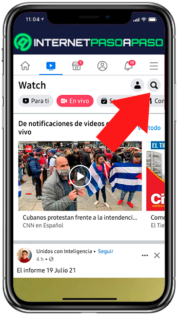 Search section in Facebook Watch
