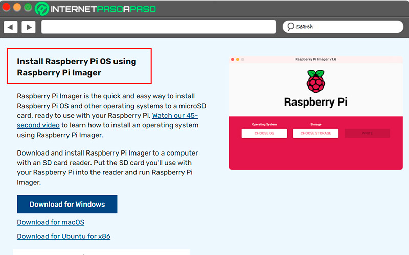 Download Raspberry Pi Imager